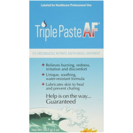 Medicated Antifungal - 2 Pack - Triple Paste AF Antifungal Nitrate Medicated Ointment 2 oz