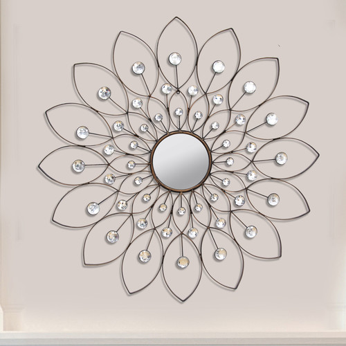 Stratton Home Decor Decorative Flower Wall Mirror
