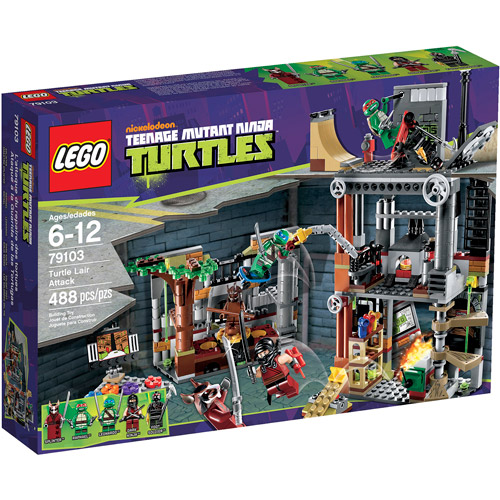 LEGO Ninja Turtles Turtle Lair Attack Play Set