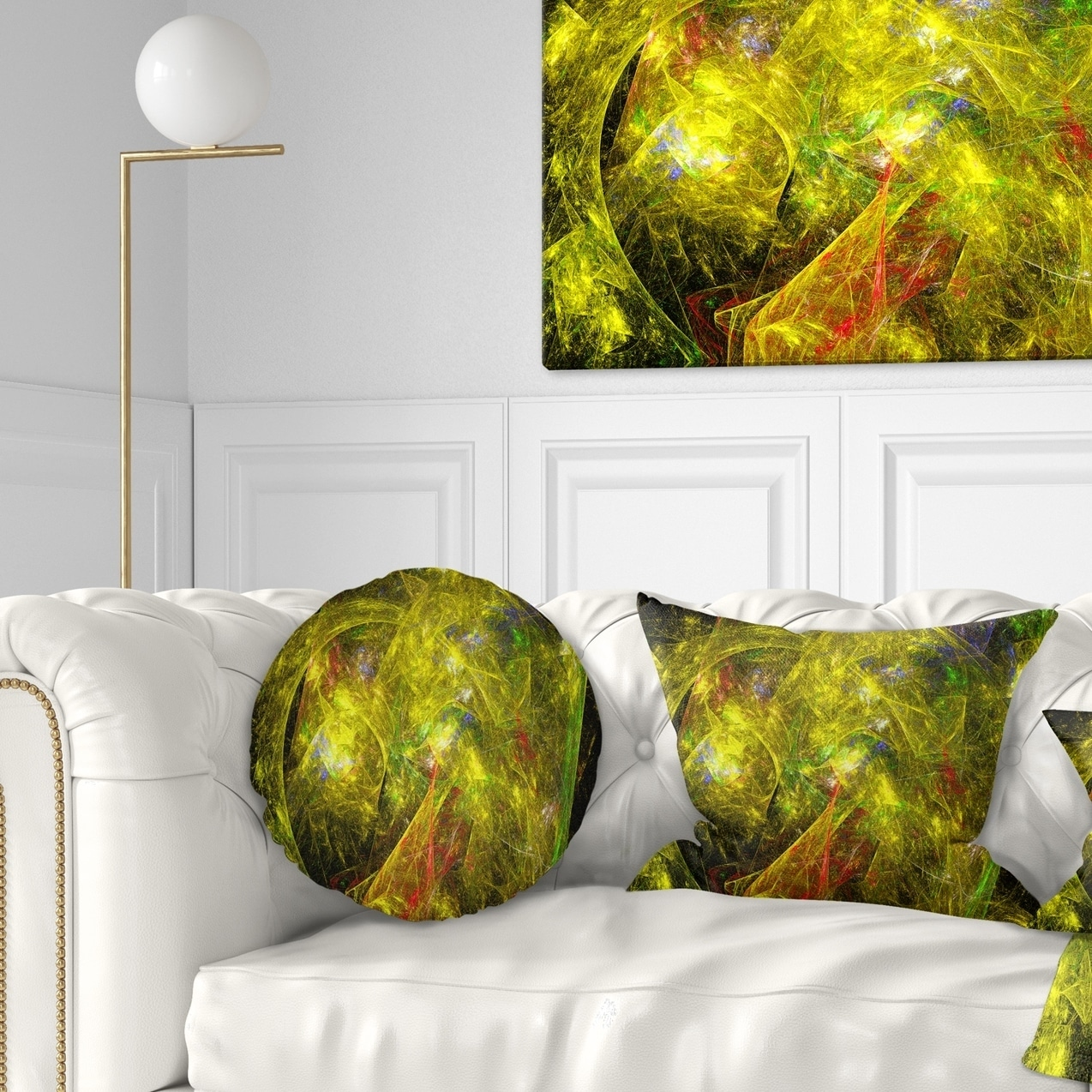 Design Art Designart Golden Mystic Psychedelic Texture Abstract Throw Pillow Walmart Com Walmart Com