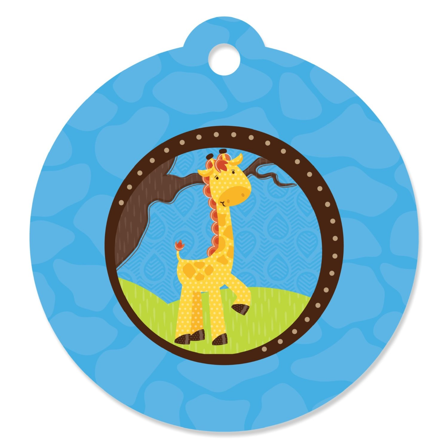 Giraffe Boy - Party Favor Tags (Set of 20)