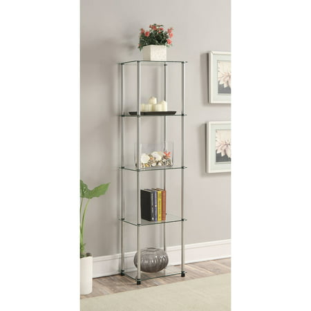 Convenience Concepts Designs2Go No Tools 5 Tier Glass Tower