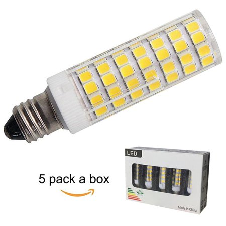 5 pack e11 led bulb 75w 100w equivalent halogen replacement bulbs dimmable jd e11 mini. Black Bedroom Furniture Sets. Home Design Ideas