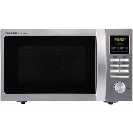 Sharp Compact Stainless Steel Countertop Microwave