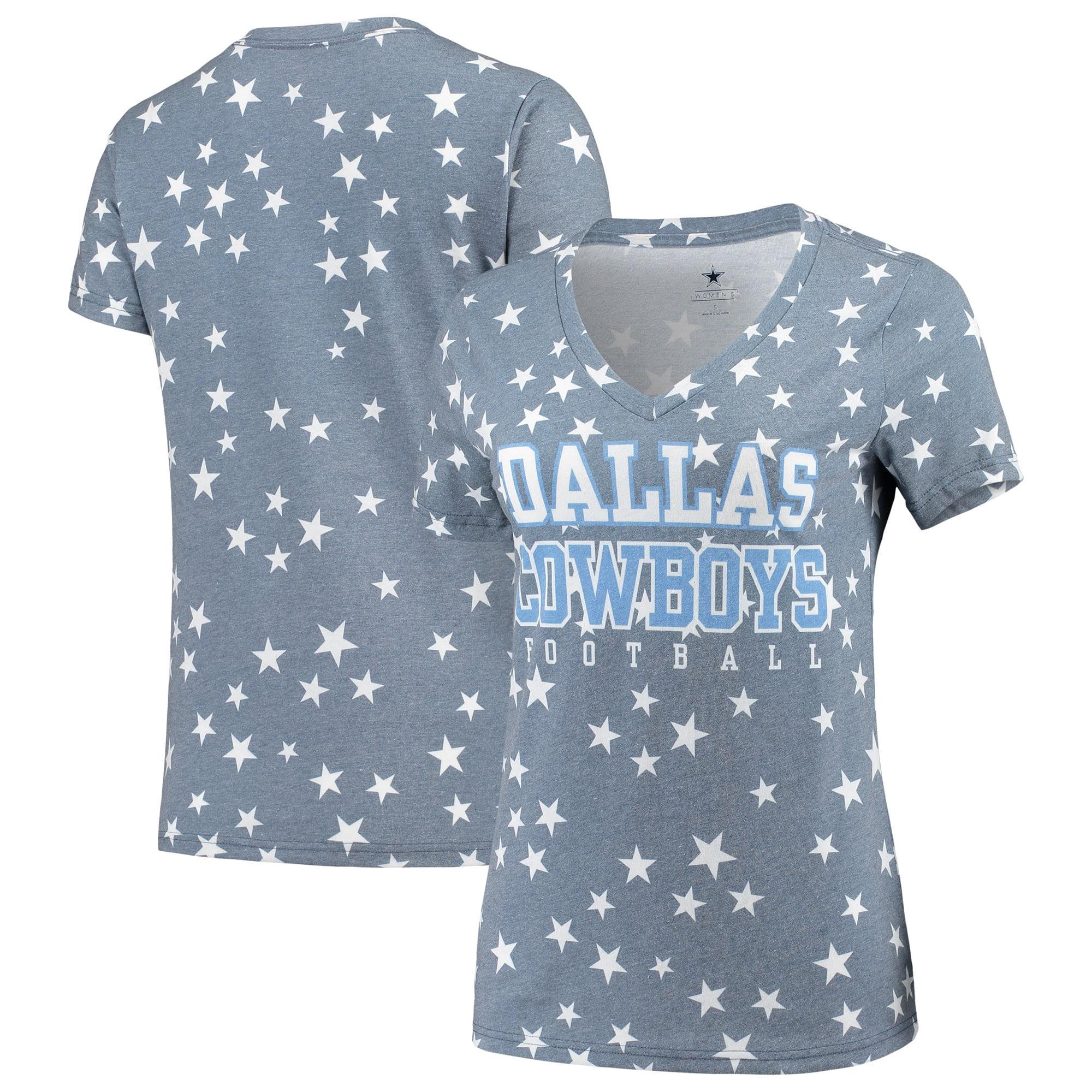 Dallas Cowboys NCAA Womens University Womens Plus Size Vee-Neck Short Sleeve Tee Shirt