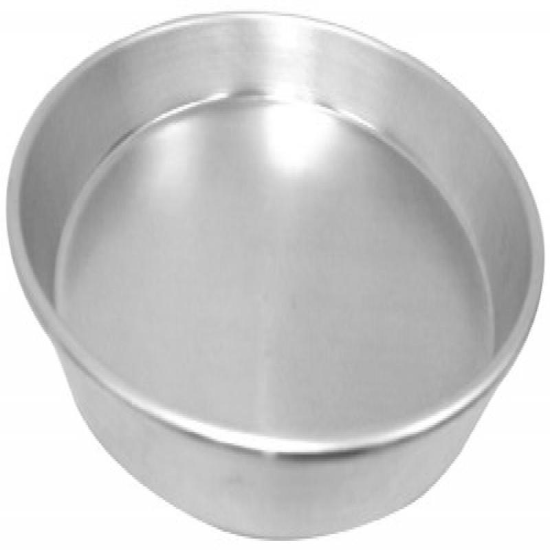 Allied Metal CPTH8X1 Heavy Weight Aluminum Pizza Pan, Tapered Design, 8-Inch by