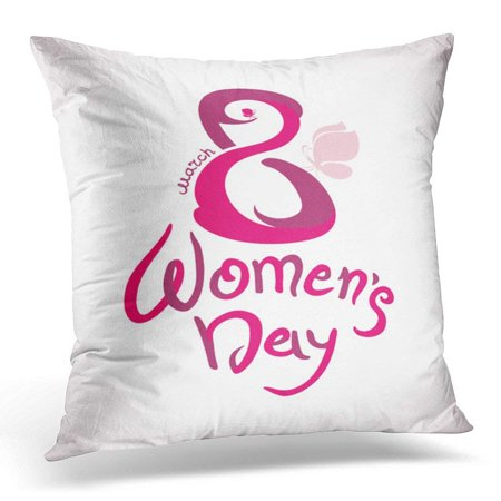 USART Butterfly March 8 Women s Day with Handwriting and Pink Butterflies  Calligraphy Pillows case 20x20 Inches Home Decor Sofa Cushion Cover -  Walmart.com d2bb9e999