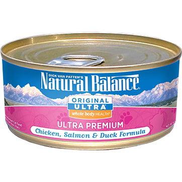 Natural Balance Original Ultra Whole Body Health® Chicken, Salmon & Duck Canned Cat (Naturals Salmon Formula)