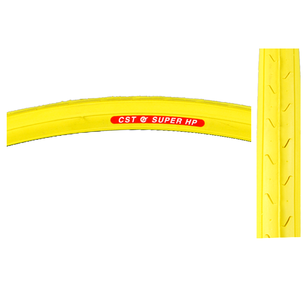 """CST Bicycle C740 Super HP Clincher Tire 27x1-1/4"""" YELLOW 27"""" / 630 ISO Road Bike"""