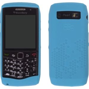 Silicone Cover for BlackBerry Pearl 3G 9100 9105 (Blue)