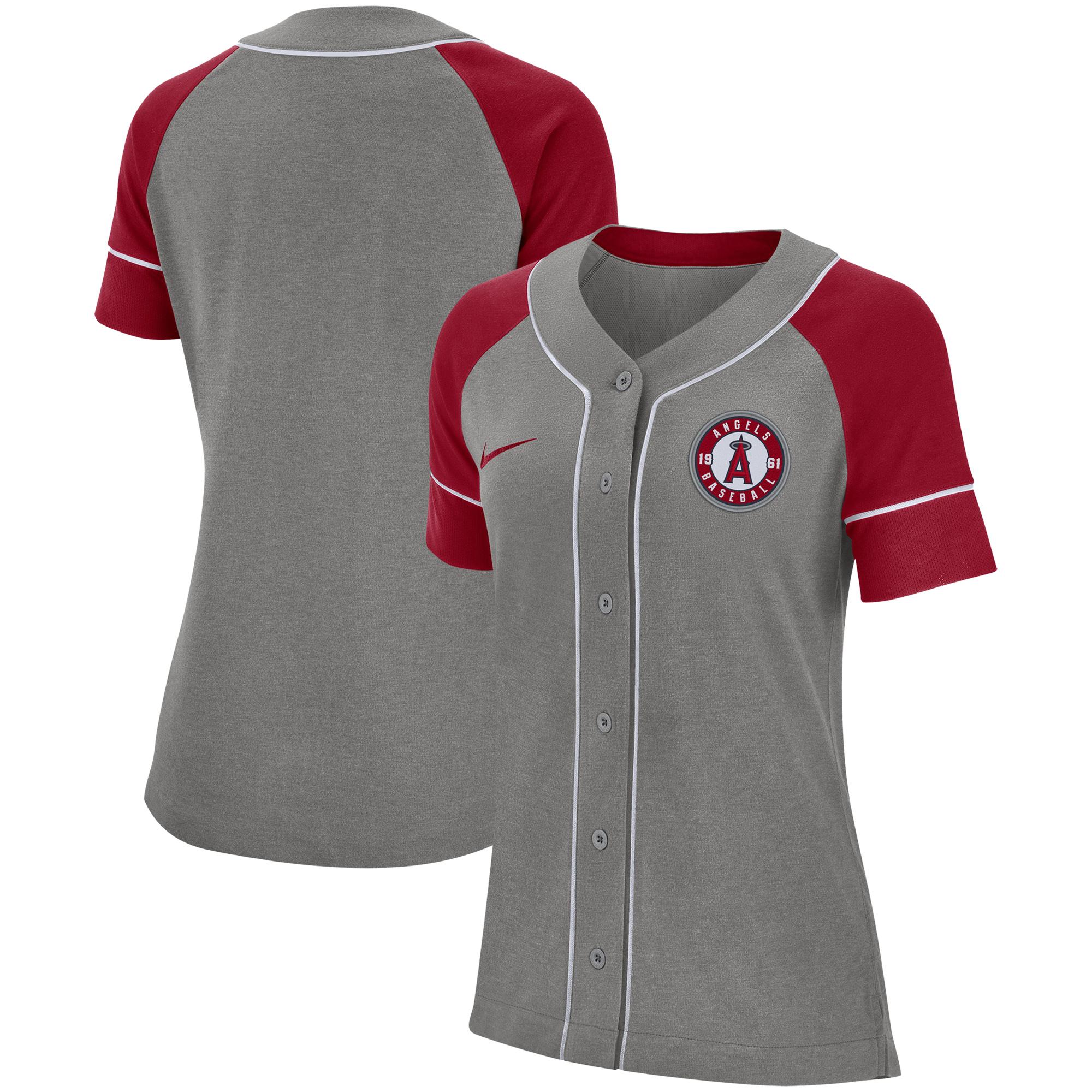 Los Angeles Angels Nike Women's Classic Baseball Jersey - Gray