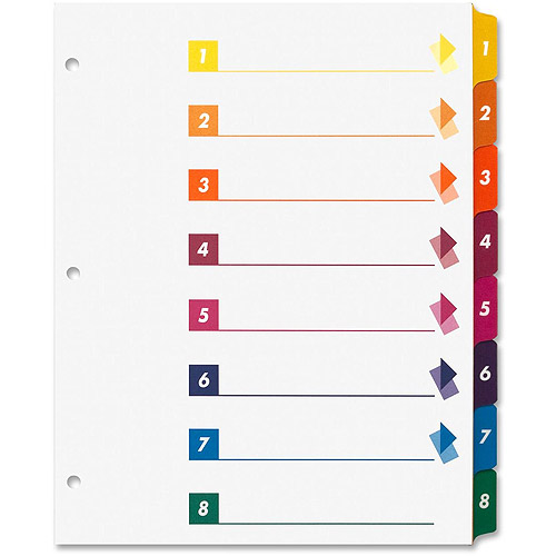 Sparco Table of Contents Index Dividers