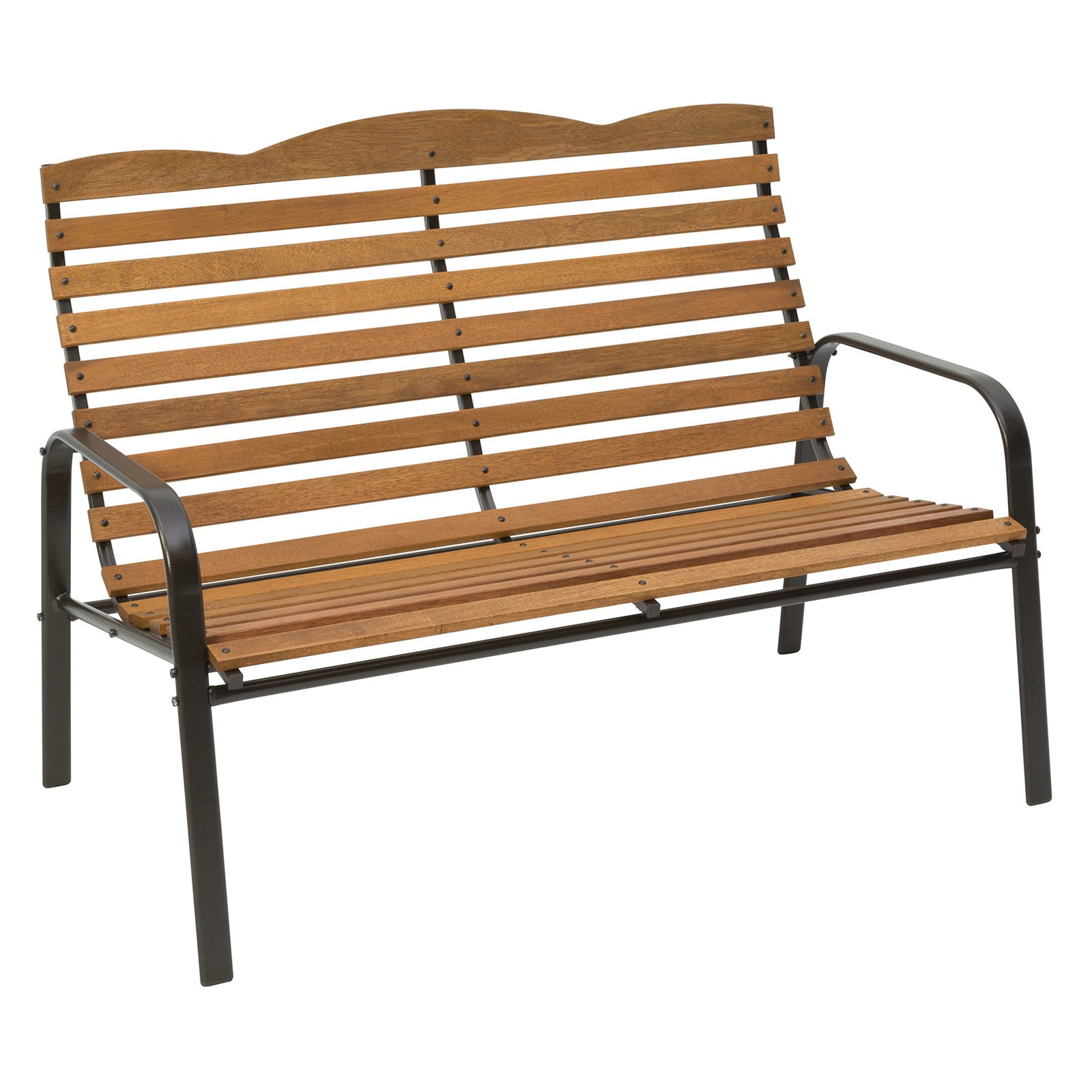 "Jack Post CG-48Z-JE Slotted Hardwood Bench, 71.75"" x 28.75"" x 36.75"""