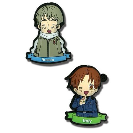 Pin Set - Hetalia - New Italy & Russia (Set of 2) Anime Licensed ge6803