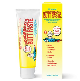 , Diaper Rash Ointment, Tube 4 oz (113 g) (Pack of 2), Pediatrician recommended By Boudreaux's Butt Paste