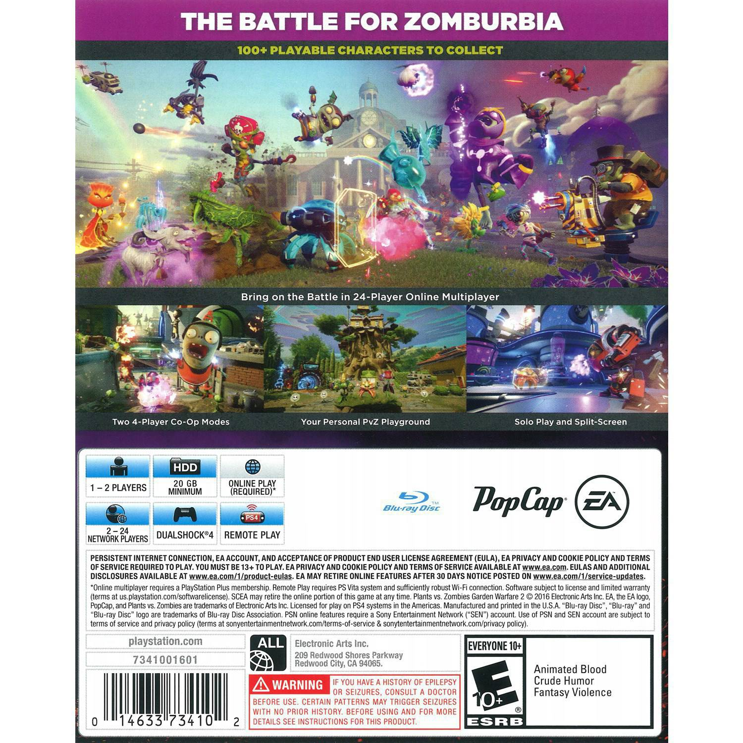 plants vs zombies garden warfare 2 electronic arts playstation 4 014633734102 walmartcom - Plants Vs Zombies Garden Warfare 2 Xbox 360