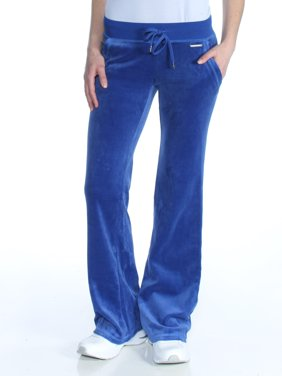 6201ae307406 Product Image MICHAEL KORS Womens Blue Draw String Velvet Boot C Boot Cut  Pants Size  2XS