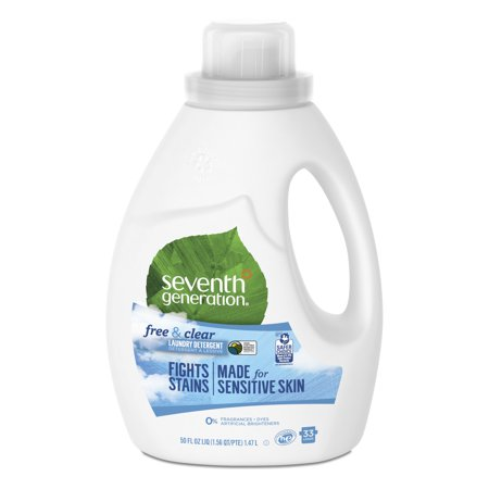 Seventh Generation Free & Clear Liquid Laundry Detergent Fragrance Free 50 oz