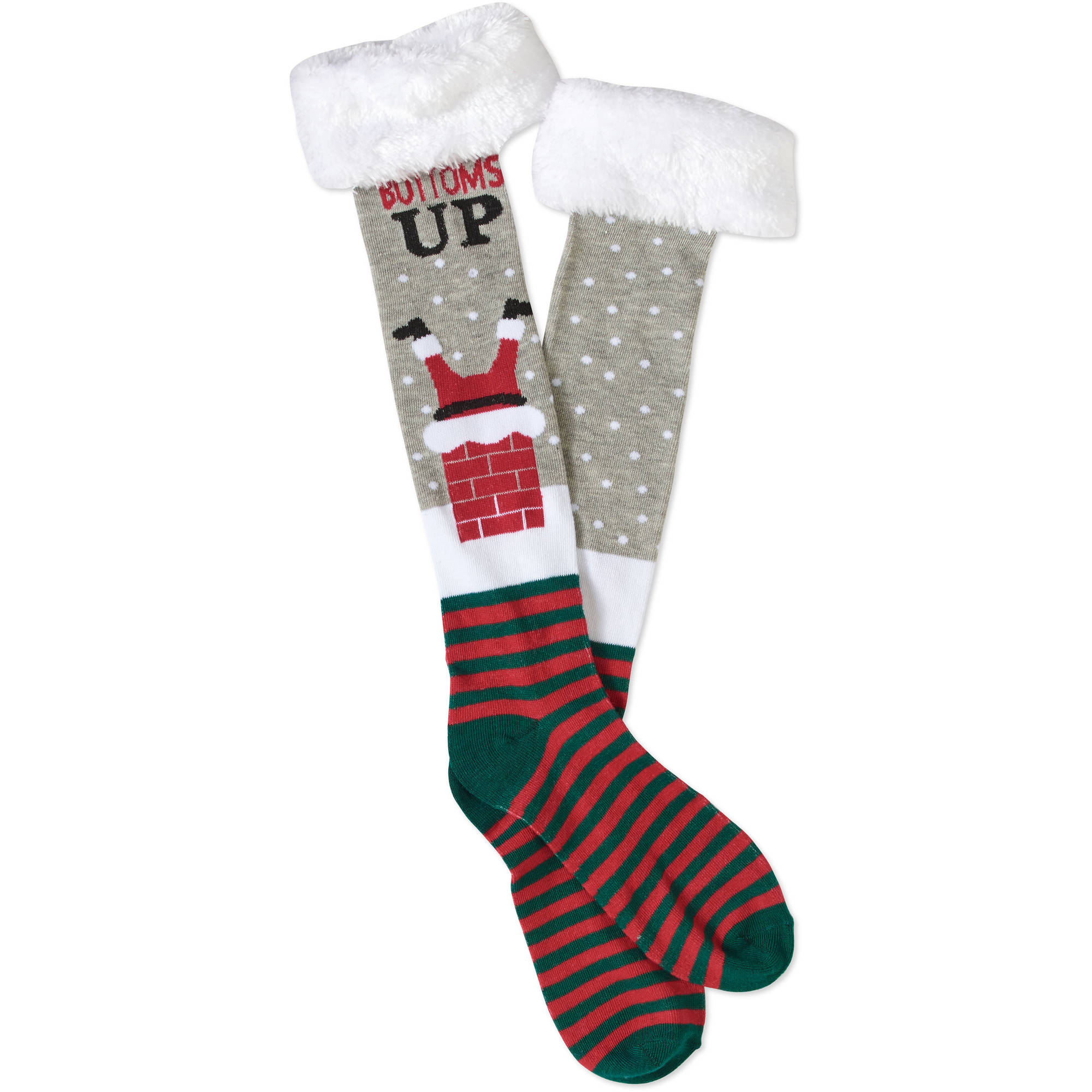 15ff84fa6 Christmas - Knee High Sock with Faux Fur - Walmart.com