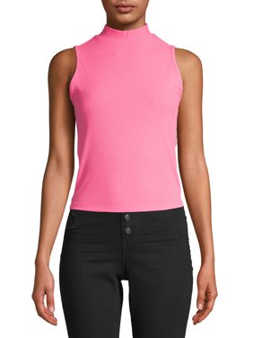 No Boundaries Juniors' Mockneck Sleeveless Top