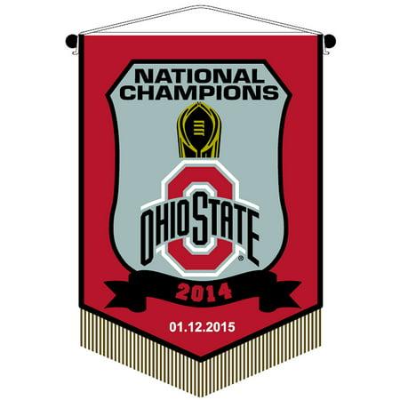 """Ohio State Buckeyes National Championshp 7"""" X 10"""" Banner"""