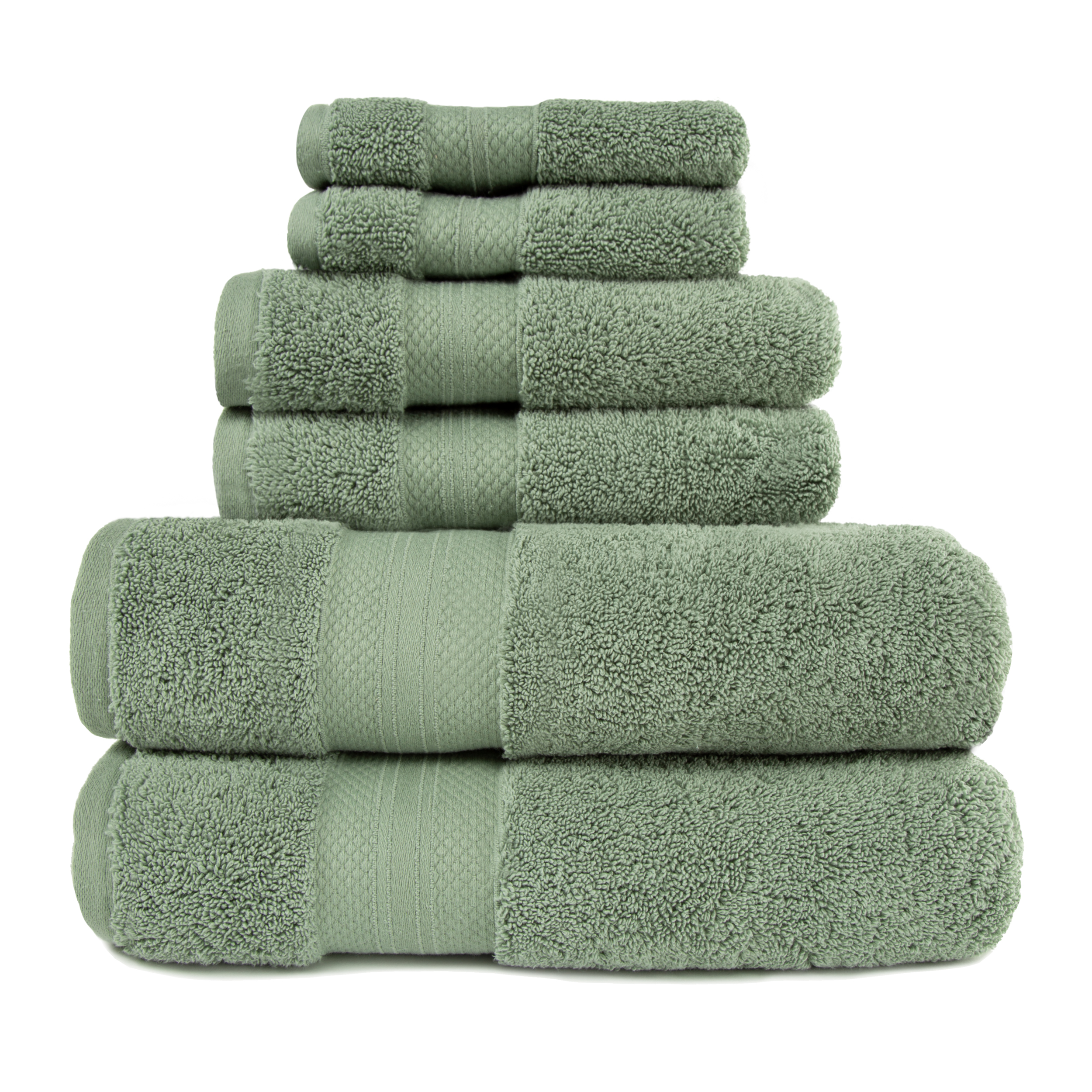 Superior 100-Percent Turkish Cotton 6-Piece Towel Set - Black