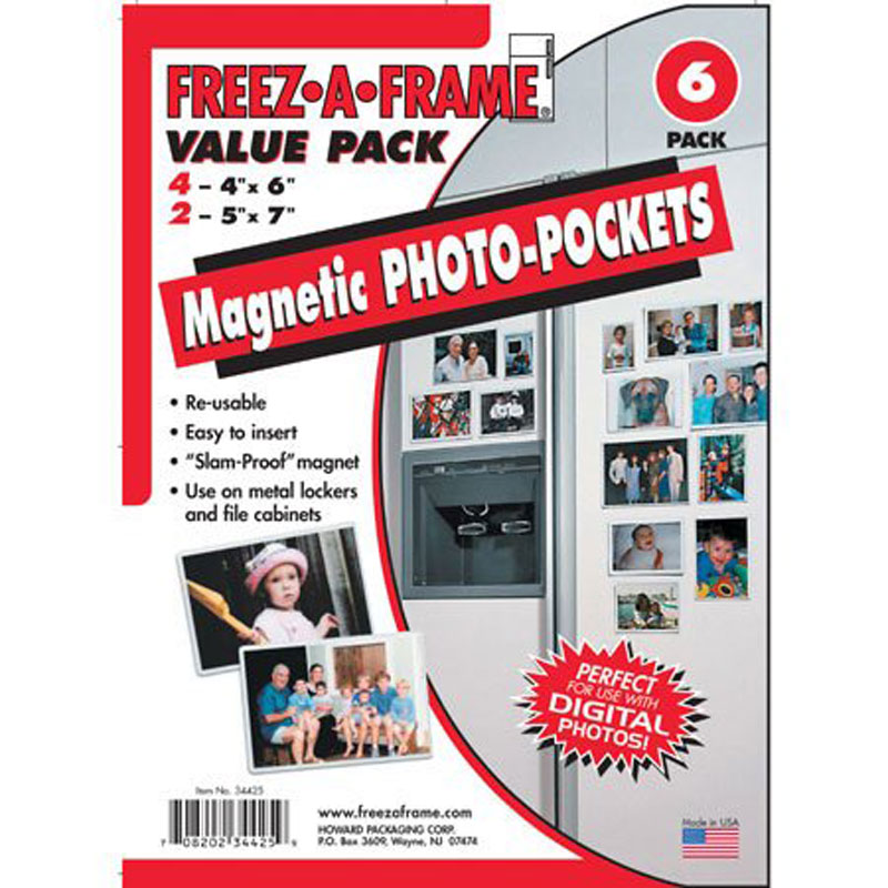Freez-A-Frame 4x6 & 5x7 Magnetic Photo Frames Combo Pack