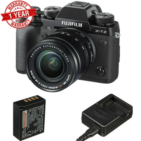 Fujifilm X-T2 Mirrorless Digital Camera with 18-55mm Lens USA