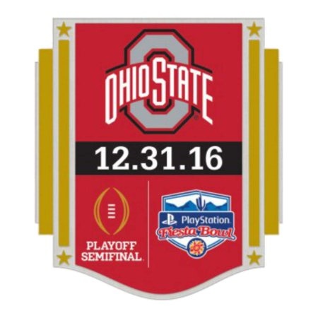 Ohio State Buckeyes Lapel Pin (Ohio State Buckeyes 2016 Fiesta Bowl Playoff Semifinal 12.31.16 Metal Lapel)