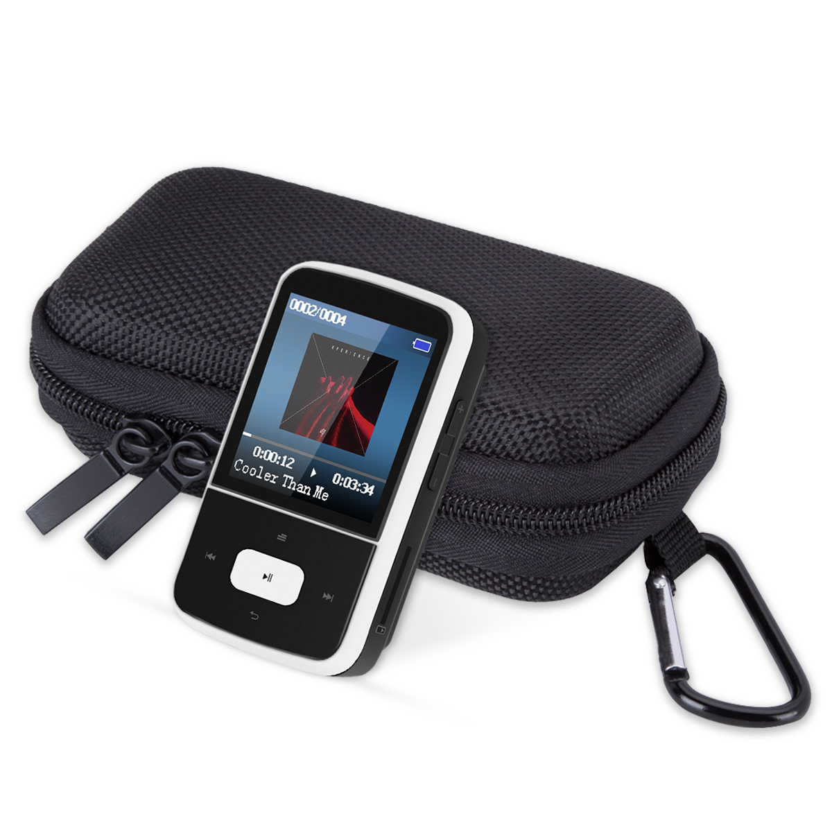 AGPTEK G05W 8GB Bluetooth Clip MP3 Player with MP3 player case, Lossless Sound,Supports up to 64GB,Black