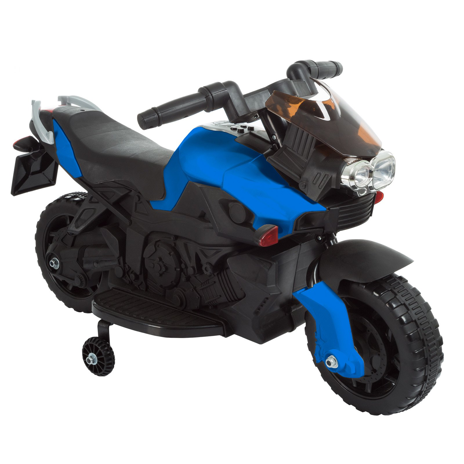 Trademark Global Lil Rider 2 Wheel Battery Powered Motorcycle Ride On with Training Wheels
