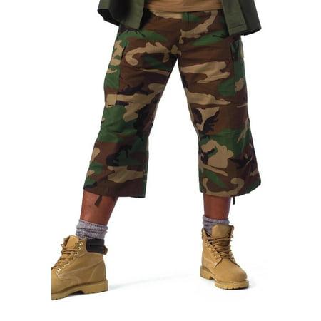 Rothco 6-Pocket BDU 3/4 Pants - Woodland Camo,