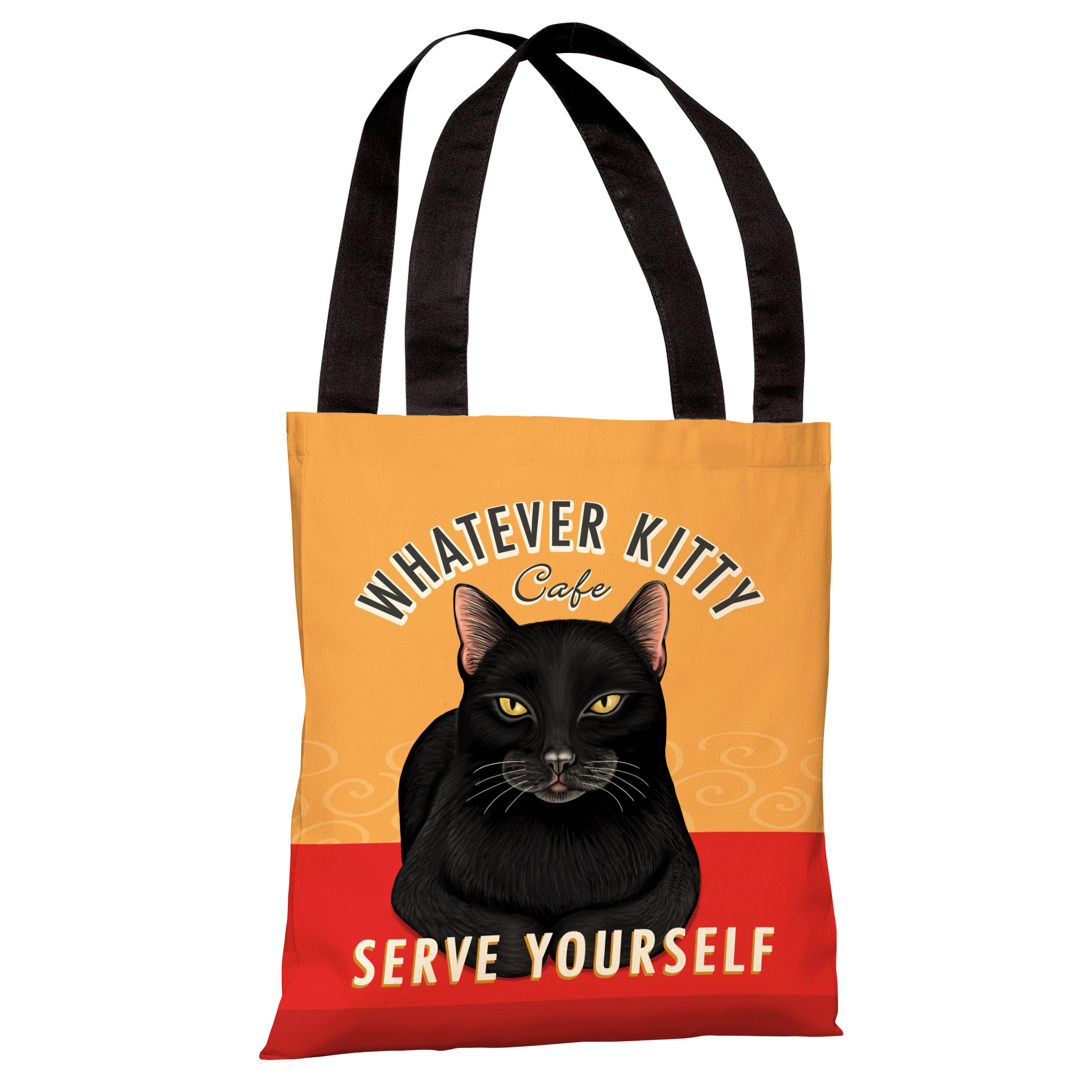 Whatever Kitty Café 16x16 Pillow by Retro Pets