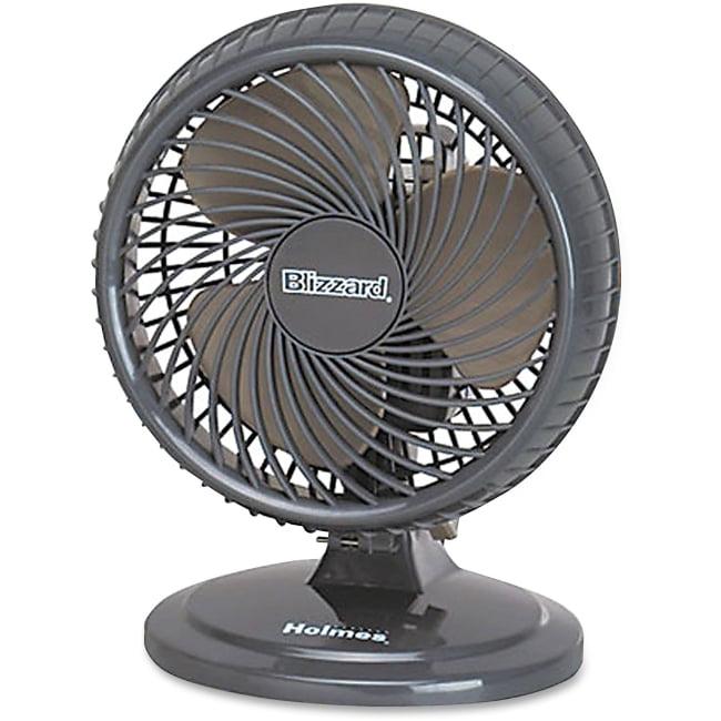 Holmes HAOF87 Lil Blizzard Oscillating Table Fan - 177.8 mm Diameter - 2 Speed - Adjustable Tilt Head, Oscillating, Quie