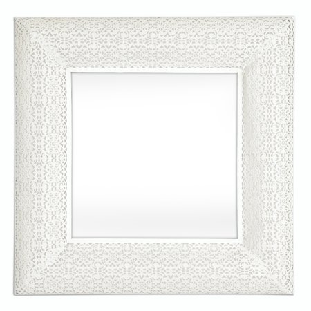 Marrakech Square (Selections by Chaumont  Marrakesh White Metal Square Mirror )