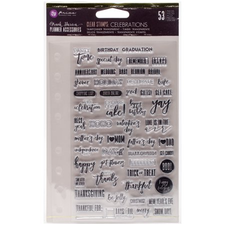 Prima Marketing Clear Stamp - My Prima Planner Clear Stamps -Frank Garcia Celebrations