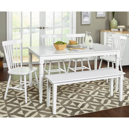 - Venice 6-Piece Dining Set with bench, Multiple Colors
