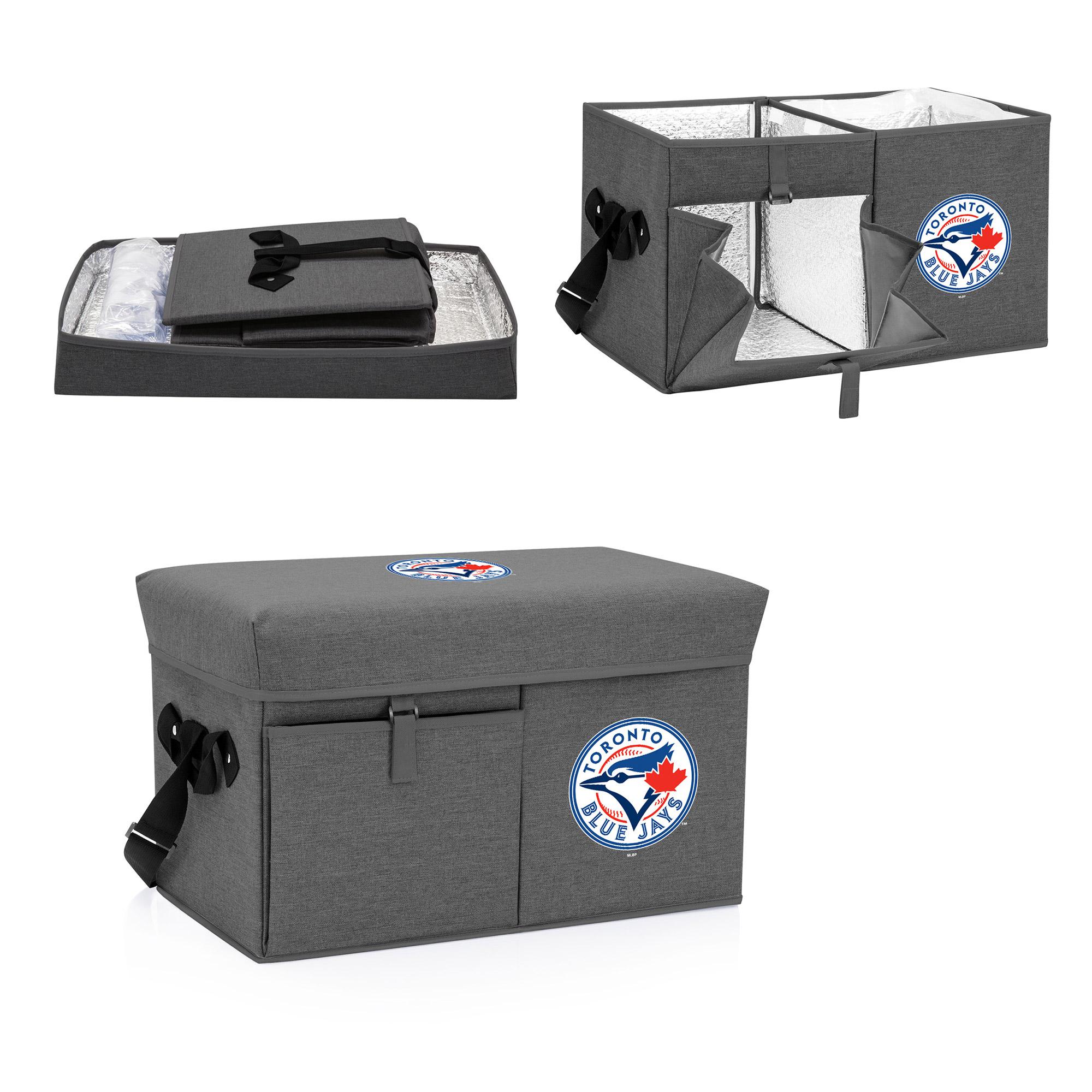 Toronto Blue Jays Ottoman Cooler & Seat - Gray - No Size