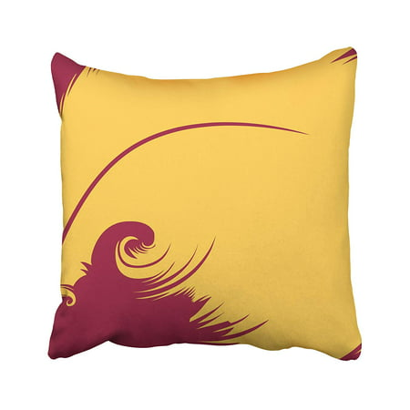 ARHOME Poetry Conceptual Featuring Yellow Quill Against Magenta Creative Pen Clip Clipart Pillow Case Pillow Cover 16x16 inch Throw Pillow Covers ()