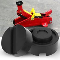Anauto 2pcs Rubber Jack Support Pad Lifting Car Support Pad Jacking Pad 65x33mm
