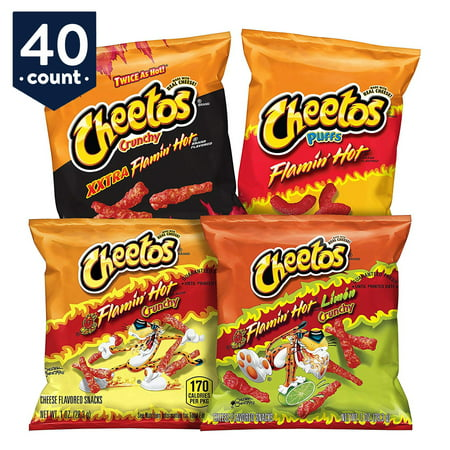 Cheetos Flamin' Hot & Spicy Variety Snack Pack, 1 oz Bags, 40 (Calories In A Bag Of Hot Cheetos)