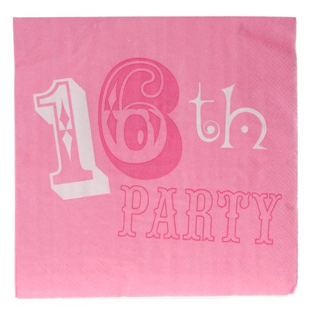 Pink Party Sweet 16 Lunch Napkins](Ideas For Sweet 16 Party)