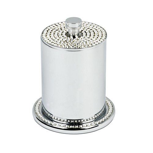 Topex Design Crystals Free Standing Cotton Swab/Cotton Jar