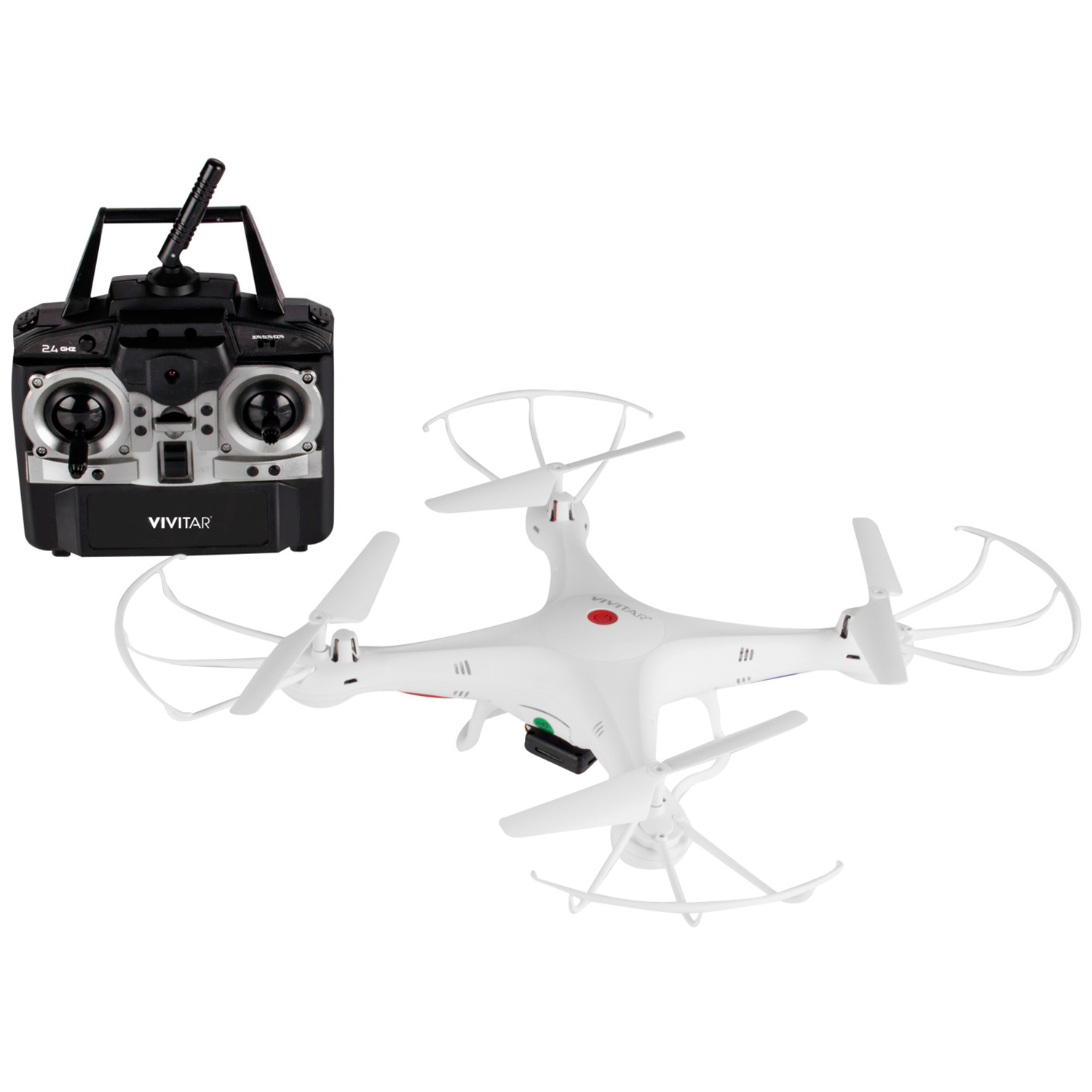 Vivitar 2.4 GHz Aerial Drone with HD Camera White by Vivitar