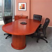 Mayline Mira 6' Racetrack Conference Table with Column Base