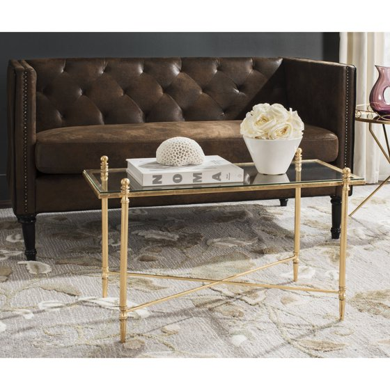 Coffee Table Legs Gold: Safavieh Tait Coffee Table, Antique Gold Leaf