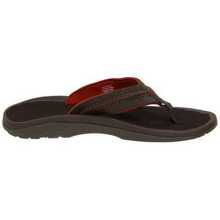 3cd9f2a45349 OluKai - OluKai Hokua Leather Dark Java   Dark Java Sandals Men s 7 -  Walmart.com