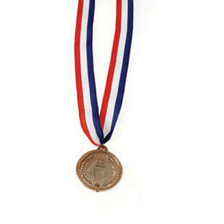 Plastic Silver Olympics Medal, 1 Award Medal per package By U.S. Toy