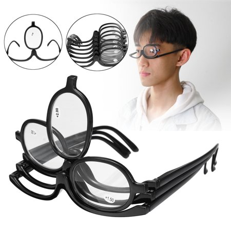 Folding Women Makeup Magnifying Reading Flip Make-up Eye Glasses Eyeglasses (Fold Up Reading Glasses Uk)