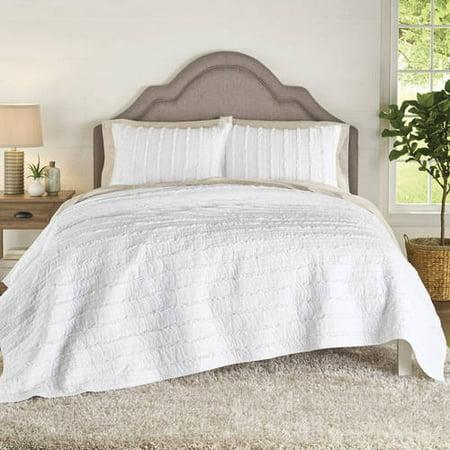 Better Homes & Gardens Solid Ruffle Stripe Bedding